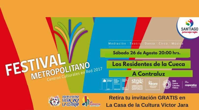 cueca chilena Los Residentes en el festival Santiago es mio